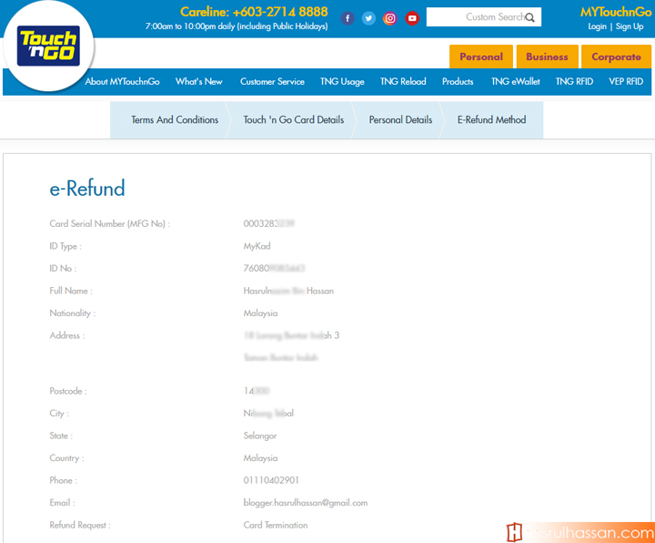 Cara Nak Buat Refund Kad Touch n Go atau Plusmiles