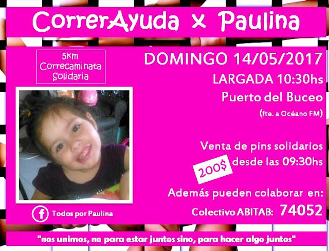 5k Correr ayuda por Paulina en Puertito del Buceo (Montevideo, 14/may/2017)