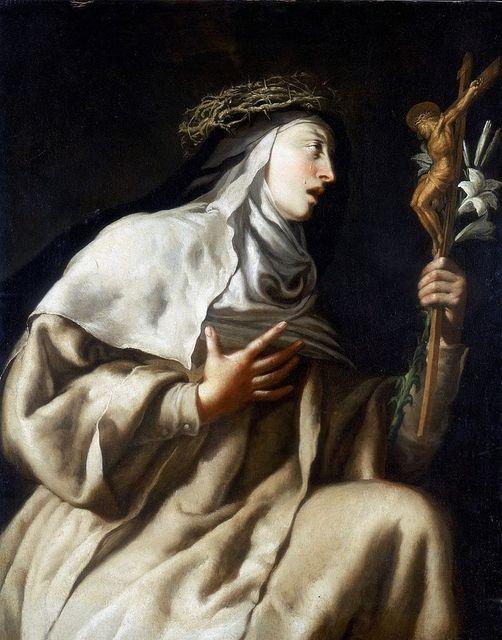 """""""Thánh Teresa thành Avila trước Thánh giá"""" của Guido Cagnacci"""