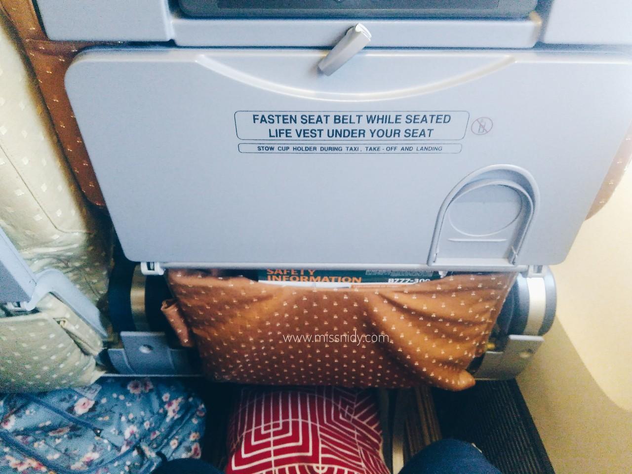 leg room singapore airlines