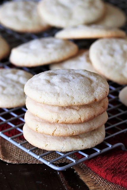 Traditional Sugar Cookies on Cooling Rack Image