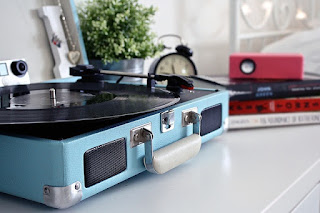 Blue Suitcase Record Player