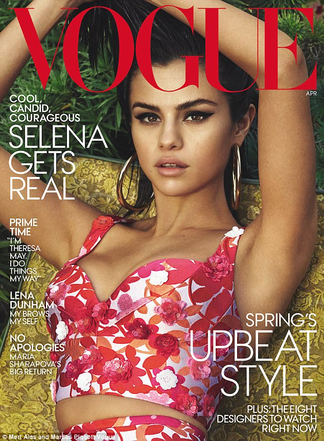 Selena Gomez Photoshoot for Vogue Magazine US April 2017