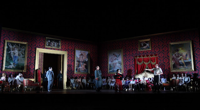 Wolfgang Ablinger-Sperrhacke, Scott Conner, Alasdair Elliott, Matthew Rose - Act 3, Der Rosenkavalier - Royal Opera. © ROH. Photograph by Catherine Ashmore