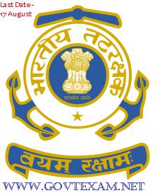 Indian Coast Guard Yantrik Online Form 2019