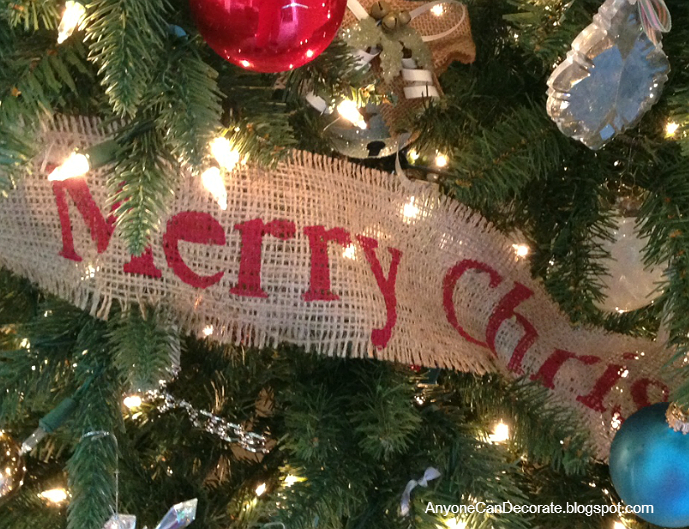 Decorate Christmas Tree Garland : Anyone can decorate diy burlap christmas garland tree wrap