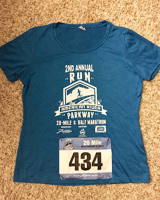 Run The Parkway 20 Miler Race shirt 2017