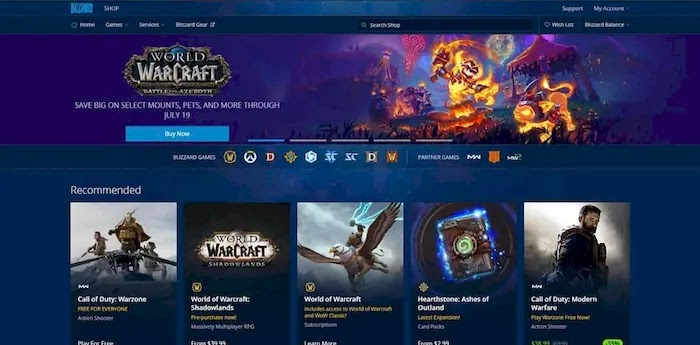 PC game download sites battle.net