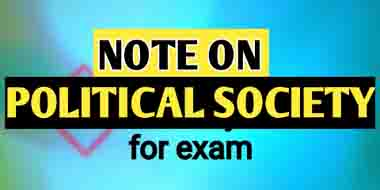 Concept of Political Society: Governing Issues In Political Society