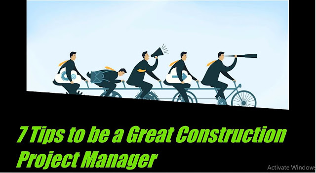 how to be a Great Construction Project Manager