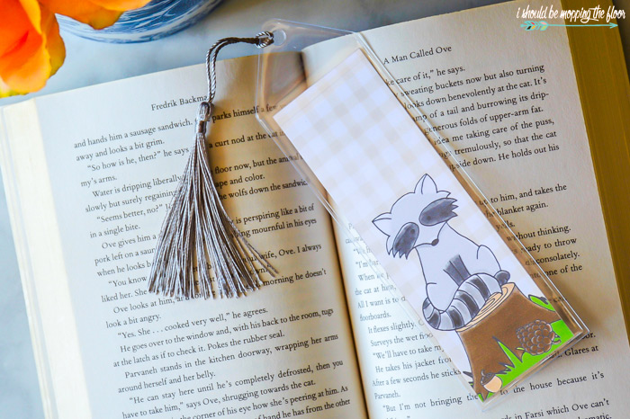 Raccoon Bookmark