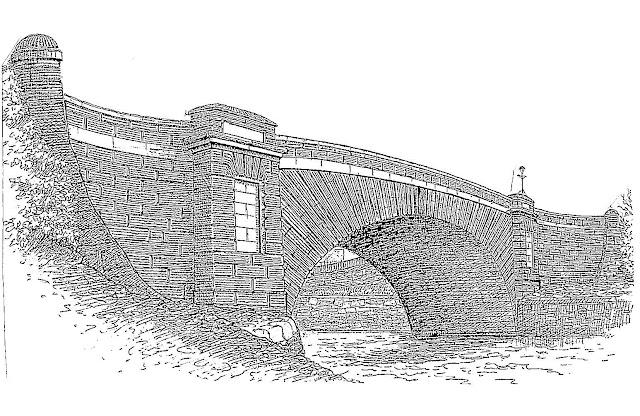 Drawing of Dungarvan Bridge by William Fraher