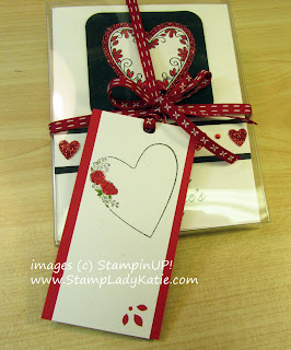 Box of Valentine in a Stampin'Up! Acetate Box decorated with images from the Meant To Be Stamp set