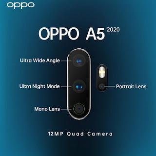 كاميرات هاتف أوبو A5 2020 الخلفية