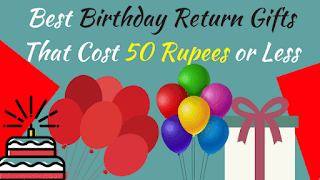 Birthday Return Gifts Under Rs 50 in India - Cover Image