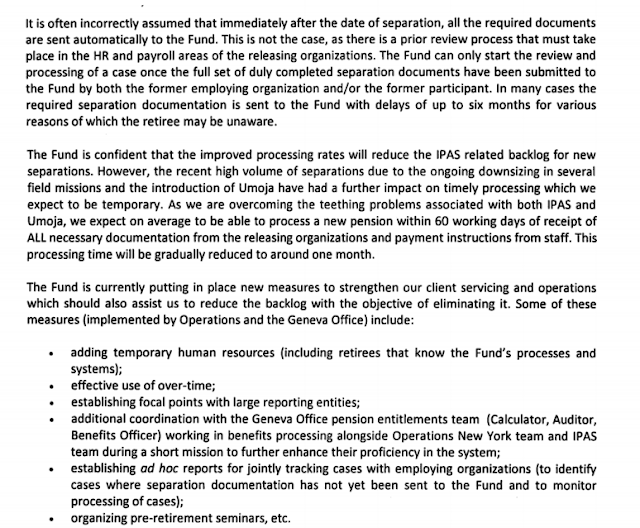 un pension blog open letter un administration investigate pension