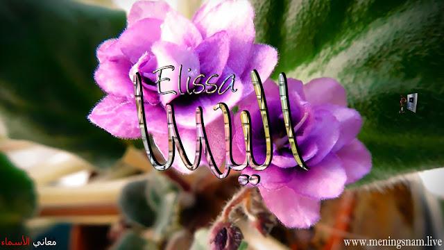 معنى اسم اليسا وصفات حاملة هذا الاسم Elissa