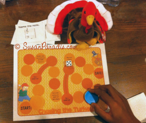 Chasing the turkey board game