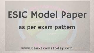 ESIC Clerk Model Paper
