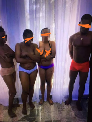 Former Nigerian Minister and Owner of Signatious hotel Strip Four Workers Unclad In His Hotel In Delta for alledgly stealing N5,000 (Photos)