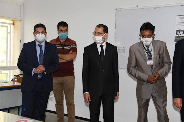 أمزازي في زيارة تفقدية لمراكز الامتحان بالرباط، رفقة السيد رئيس الحكومة bac 2020