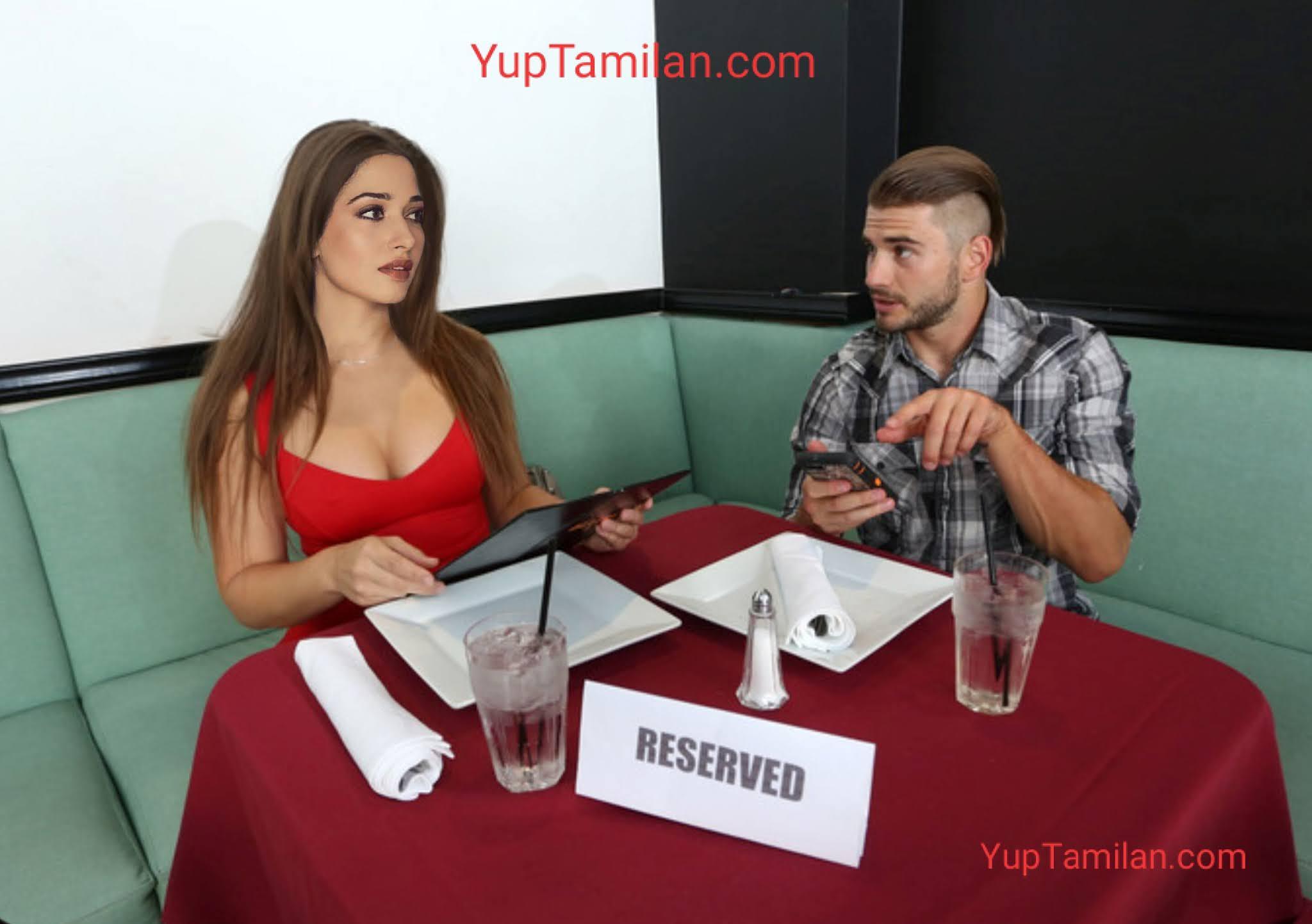 Actress Tamannaah seducing a Servant Photos