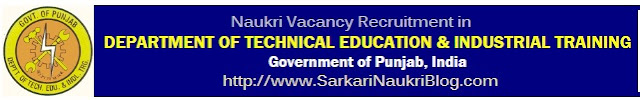 Naukri Vacancy Recruitment DTE Punjab