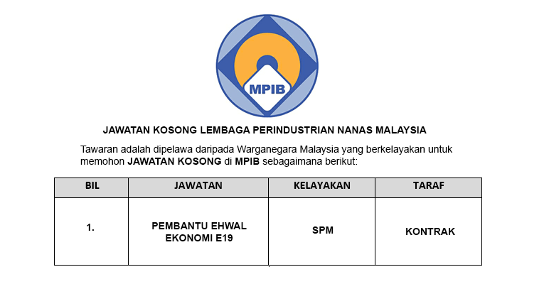 Lembaga Perindustrian Nanas Malaysia MPIB [ Jawatan Terkini Disenarai ]