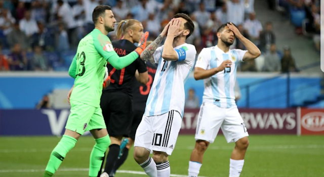 Argentina on the brink of crashing out.