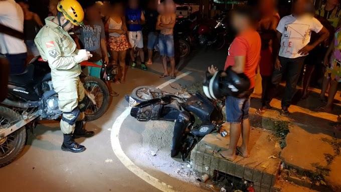 Em Itaituba: Acidente envolvendo duas motos deixa três pessoas feridas.