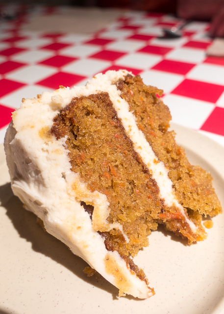 Homemade Carrot Cake at Carmelo's -  Where to Eat in St. Augustine, Florida - we found several hidden gems in St. Augustine that you MUST try on your next trip. Pizza, Burgers, Sandwiches, Craft Cocktails, and CRAZY milkshakes! Something for everyone!!