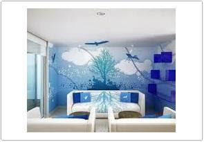biru varian warna cat ruang tamu menurut feng shui