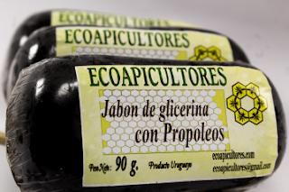 jabón con glicerina y propóleos ecoapicultores