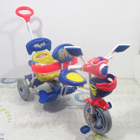 royal ry5098 2 kursi patroli disko tricycle