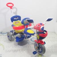 royal ry5098 2 kursi patroli disko tricycle