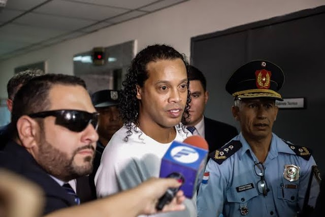 Pictures of Ronaldinho as he Parts Way Out of Paraguay Prison