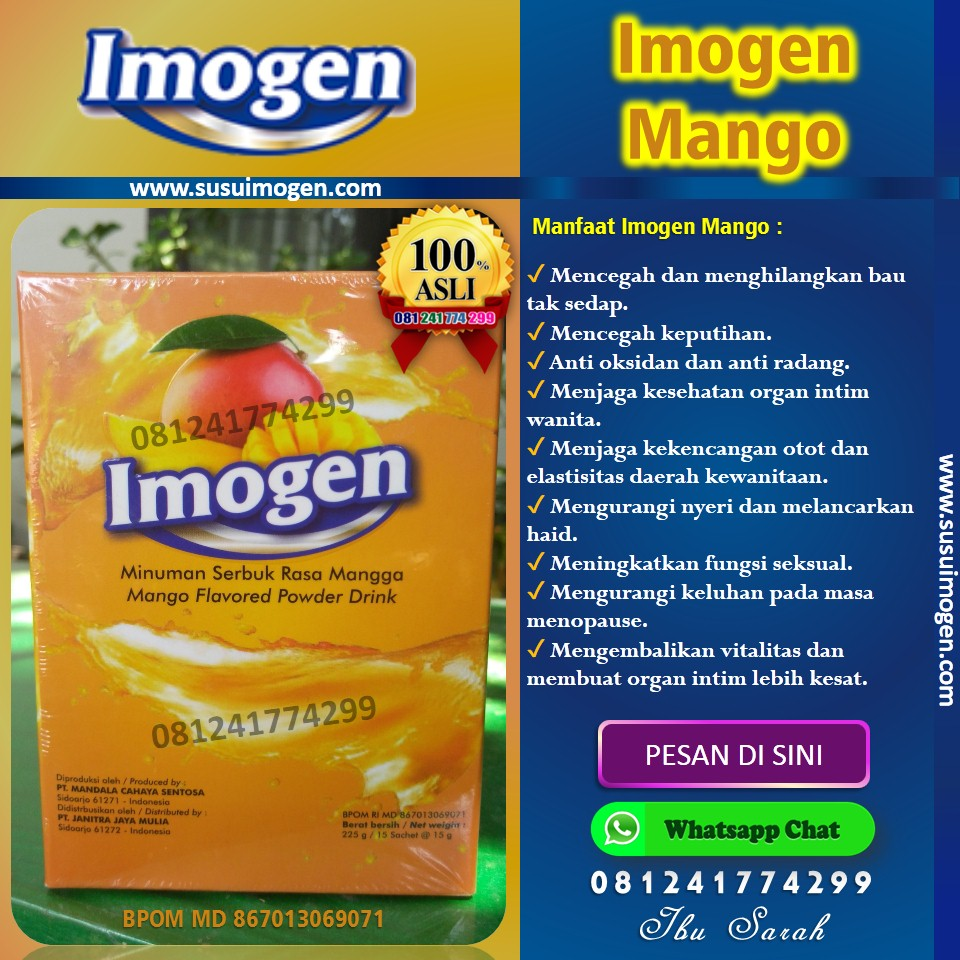 imogen mango, imogen mangga, manfaat imogen mango