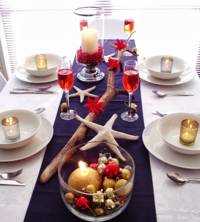 coastal Holiday table