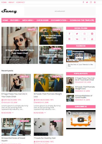 Sancy Blogger theme