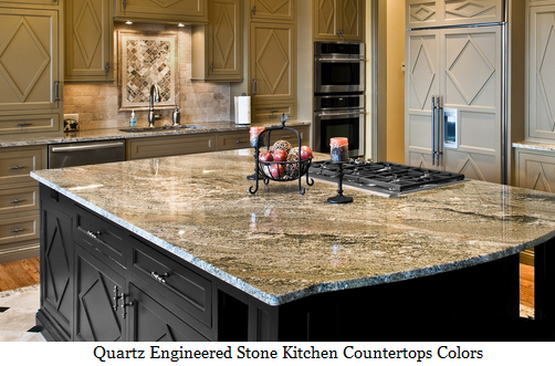 Quartz Engineered Stone Kitchen Countertops Colors