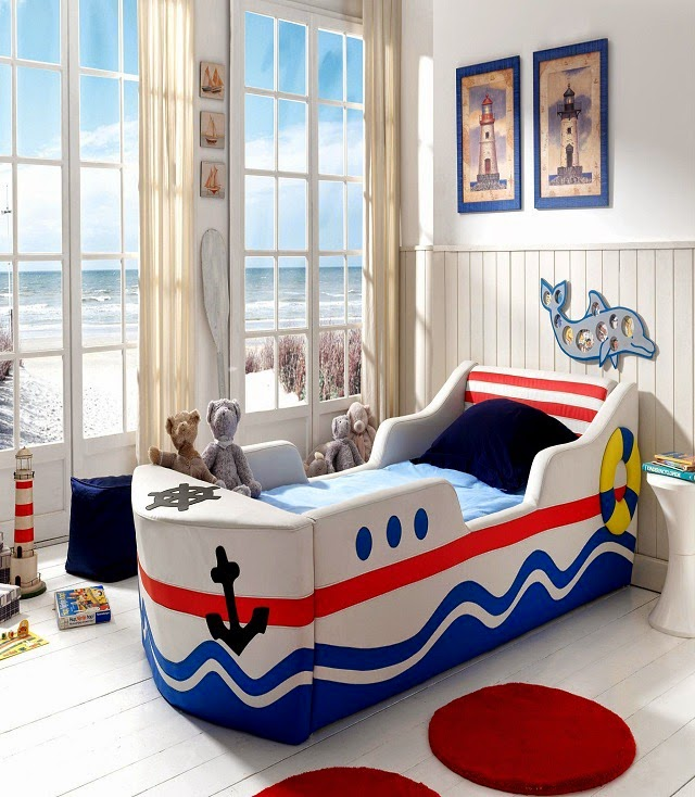 Kids Boy Room Ideas: Amazing Boat Shaped Bed For Kids Room Ideas
