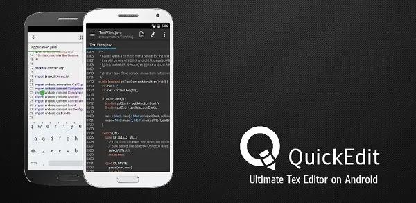 QuickEdit هو سريع ومستقر محرر النص المميز على أجهزة أندرويد. هو الأمثل لكل من الهاتف والجهاز اللوحي!