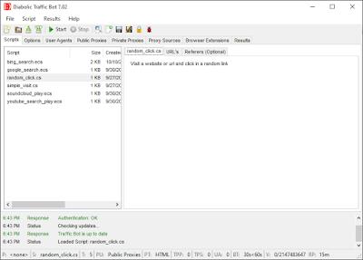 تحميل برنامج Diabolic Traffic Bot 6.30 Latest version - The Most Powerful Traffic Bot النسخة المدفوعة مجانا