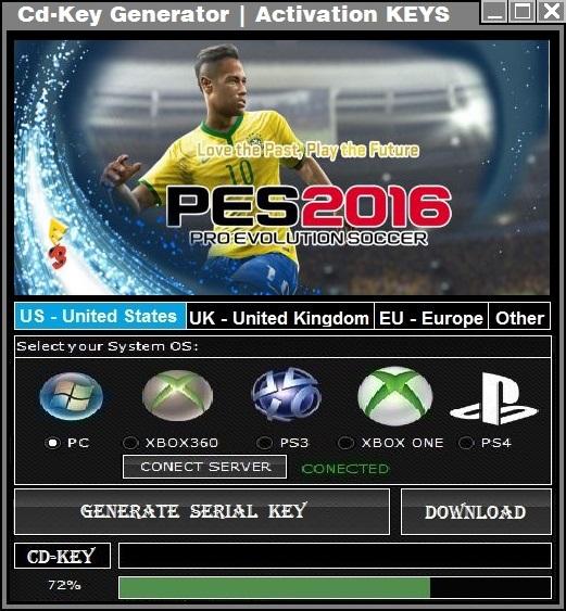 license key download for pes 2017