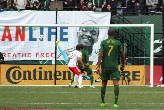 Giant Darlington Nagbe approves of Diego Valeri's goal.