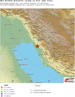 Magnitude 5.8 Earthquake Strikes Southern Iran