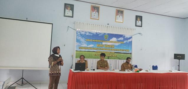 DPMD Bartim Lakukan Rapat Pelaksanaan Pembangunan Kawasan Perdesaan Di Dusun Timur