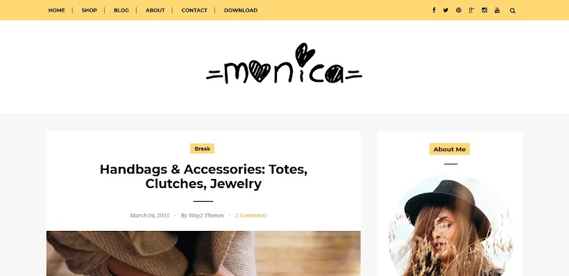 Monica Free Blogger Template