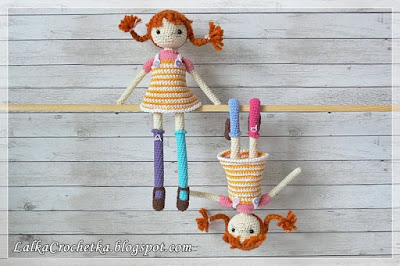 Crocheted Pippi Dolls
