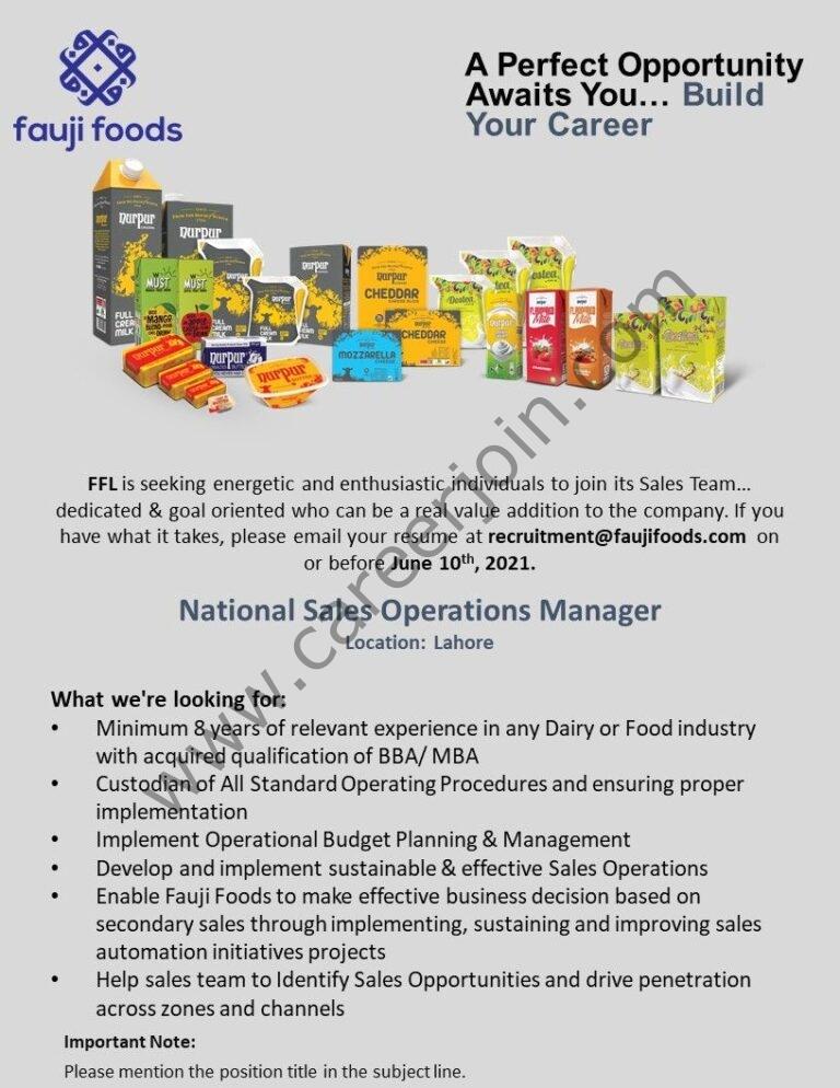 Fauji Foods Ltd Jobs 2021 in Pakistan